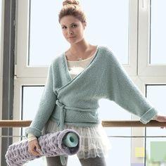 Короткое кимоно - схема вязания спицами. Вяжем Пуловеры на Verena.ru
