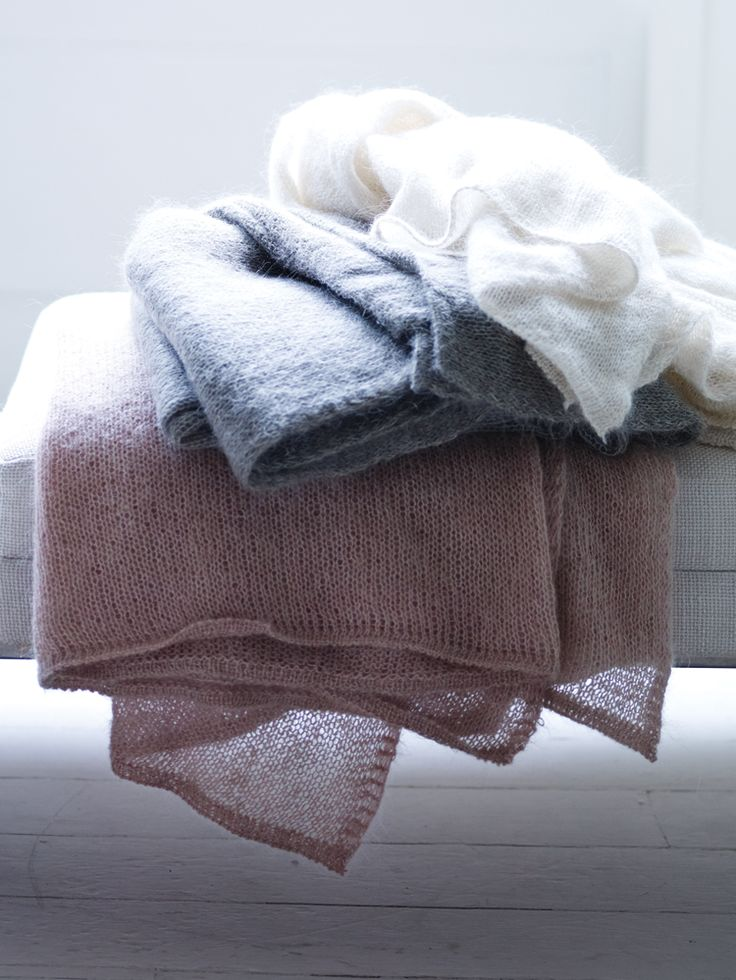 Knitted Mohair Throws