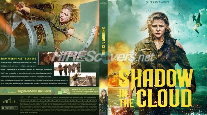 Shadow In The Cloud 2020 Custom Blu Ray Cover Movie Covers Custom Dvd Dvd Covers