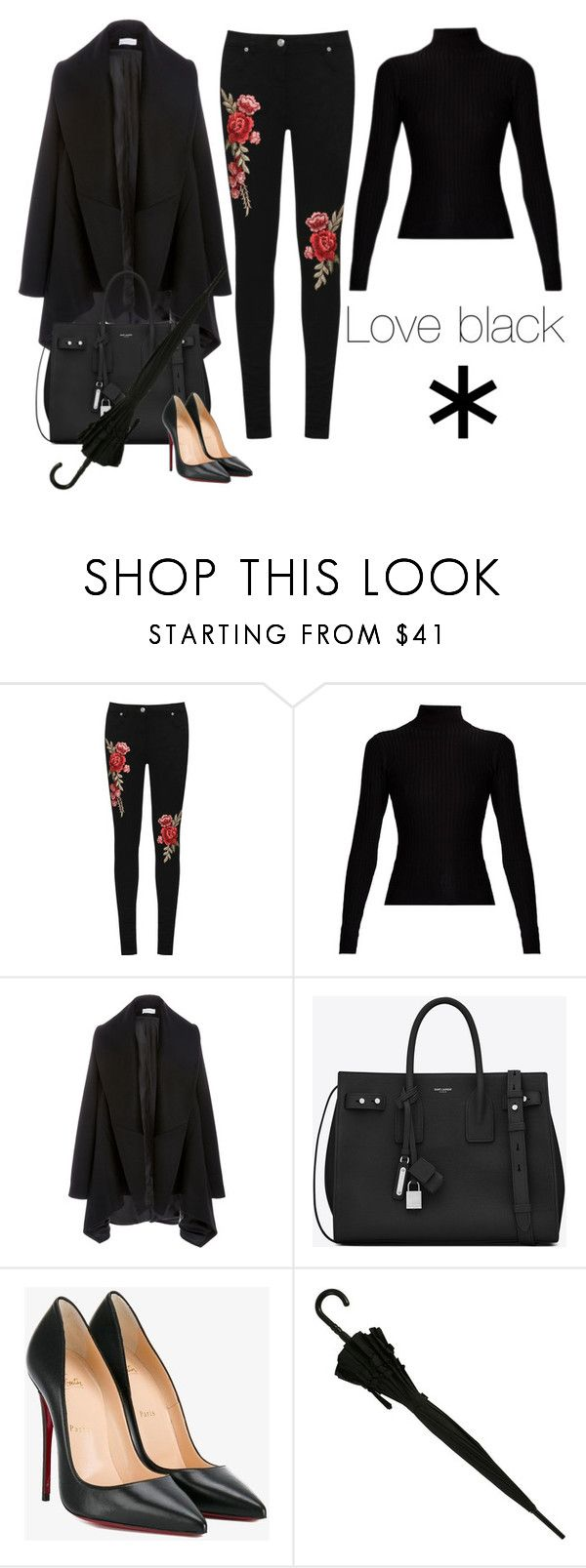 """""""Black is the best colour"""" by monika1555 on Polyvore featuring WearAll, Acne Studios, Yves Saint Laurent and Christian Louboutin"""