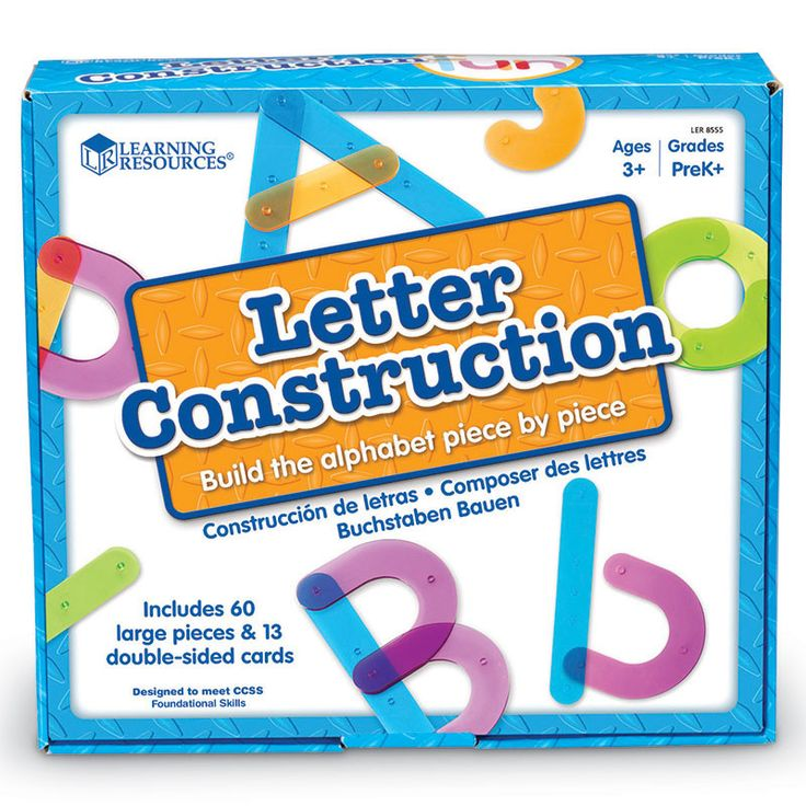 Letter Construction Activity Set for Ages 3-7