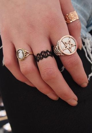90 S Tattoo Ring