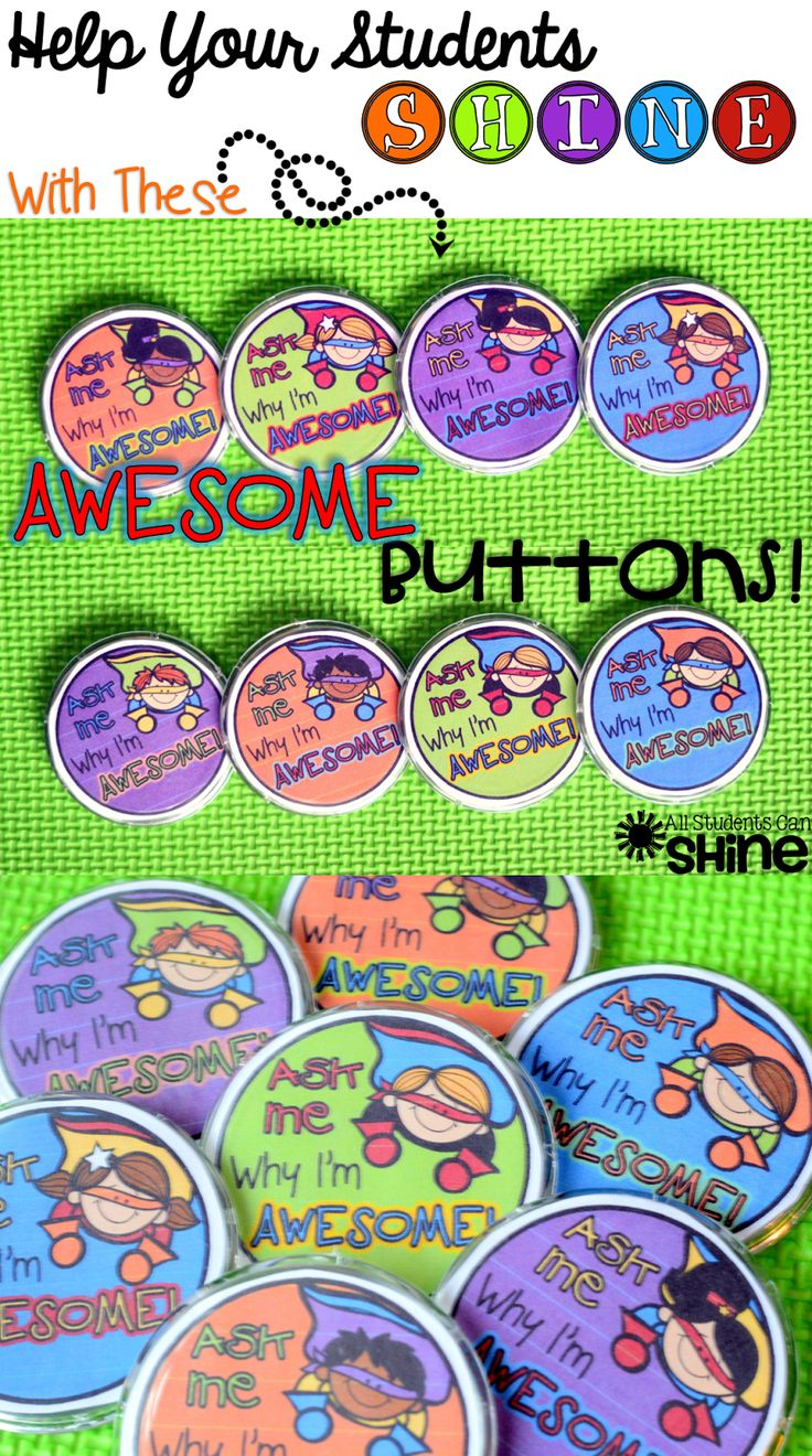 AWESOME Buttons! Positive Reinforcement Strategy *FREEBIE*