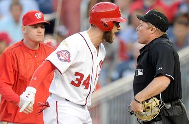 "Bryce Harper: ""I don't think 40,000 people came to watch him ump tonight"""