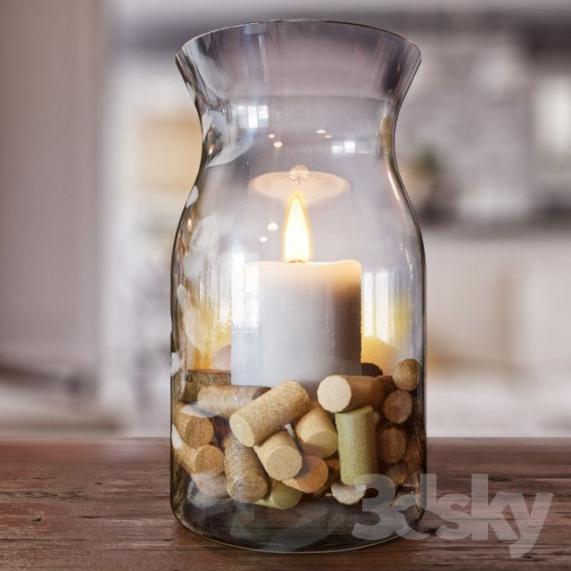 Bank with a candle
