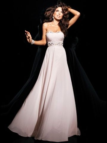 2014 Cheap Evening Dress 2014 Style A-line Sweetheart Beading Sleeveless Floor-length Chiffon Prom Dresses / Evening Dresses