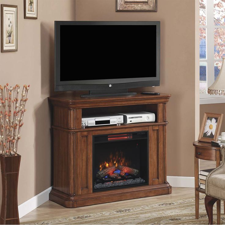 corner electric fireplace media center oak white costco