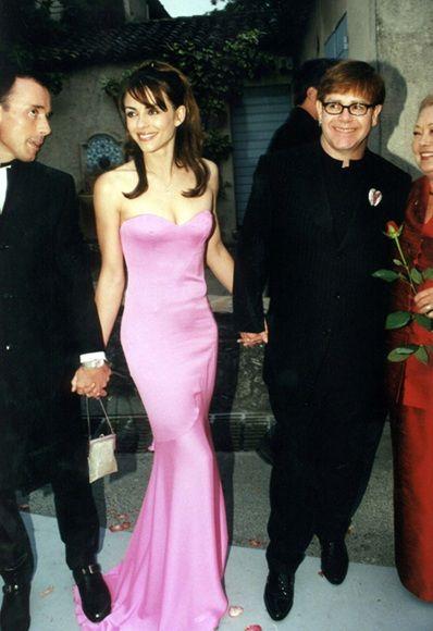 Liz Hurley, David Furnish and Elton John