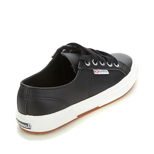 Superga® Leather Lace-Up Classic Sneaker - Gray/Grey