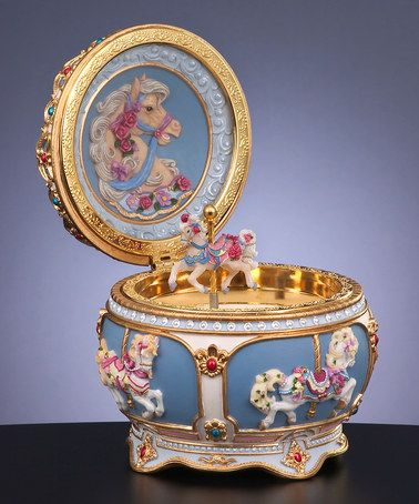 Take a look at this Carousel Hinged Trinket Box by The San Francisco Music Box Company on #zulily today!