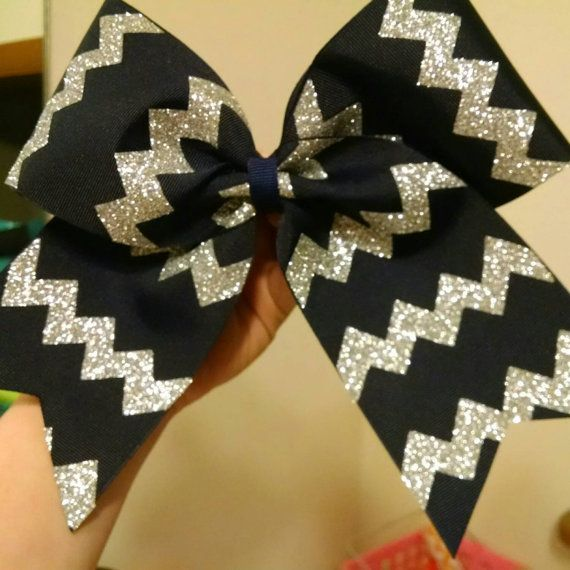 Chevron Cheer Bow Softball Bow YOU PICK COLORS by CraftyOhBows
