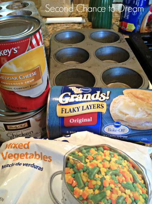 Mini Chicken Pot Pies- A Quick & Easy Dinner Idea - Second Chance To Dream