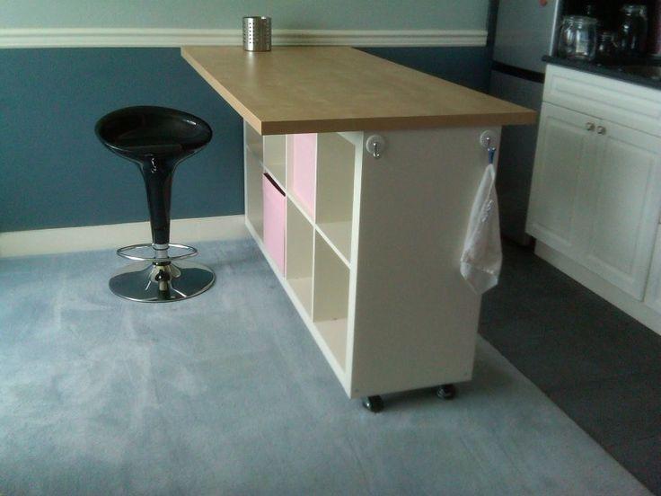 Ikea Kitchen Island Hack Ikea Kitchen Island Base Kitchen Island Bookshelf,  Add Legs/wheels