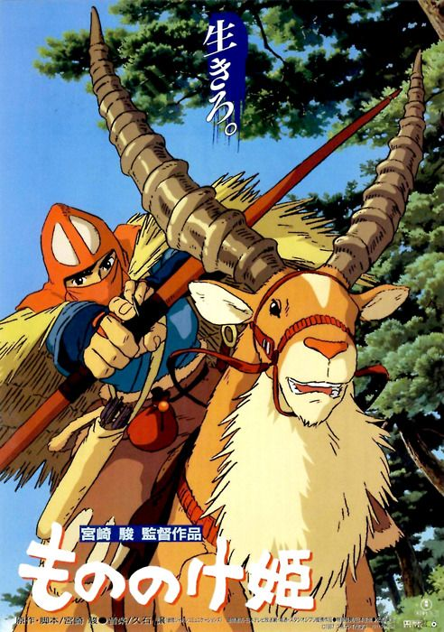 Japanese Movie Poster: Princess Mononoke. Studio Ghibli. 1997