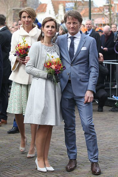 (L-R) Princess Marilene of The Netherlands, Princess Anita of the Netherlands and Prince Pieter Christiaan of The Netherlands attend King's Day (Koningsdag), the celebration of the birthday of the Dutch King, on April 27, 2016 in Zwolle, Netherlands.