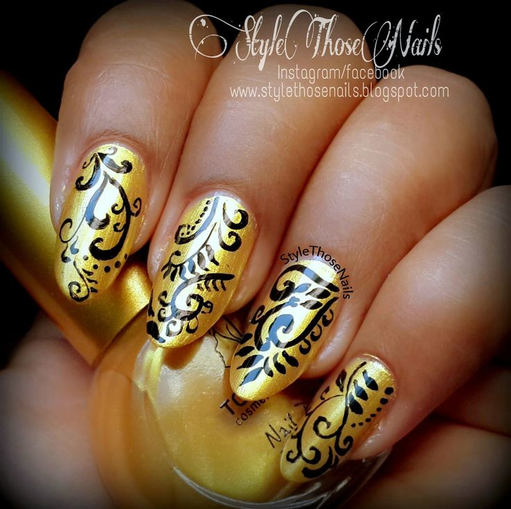 Visit Style Those Nails: Golden Diva Nailart #filigreenails #goldennails