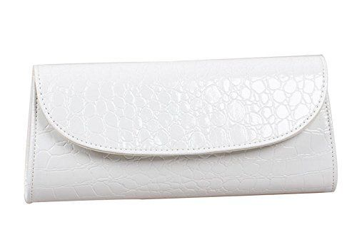 New Trending Clutch Bags: Bundle Monster Womens Envelope Evening Patent Croc Skin Embossed Clutch - WHITE. Bundle Monster Womens Envelope Evening Patent Croc Skin Embossed Clutch – WHITE  Special Offer: $12.99  444 Reviews A beautiful evening clutch is the only way to go when you are parting the night away, going to a fancy event or wedding. Our clutch comes in: Powder White. This...