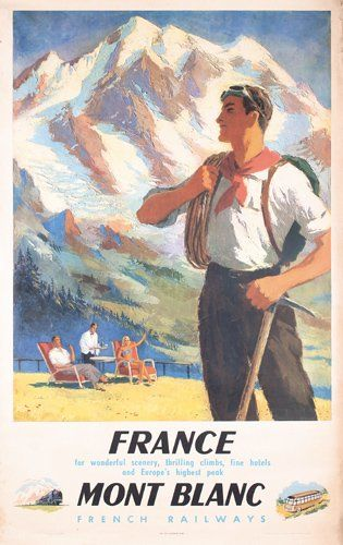 French railways - France - Mont Blanc - 1947 - SNCF -