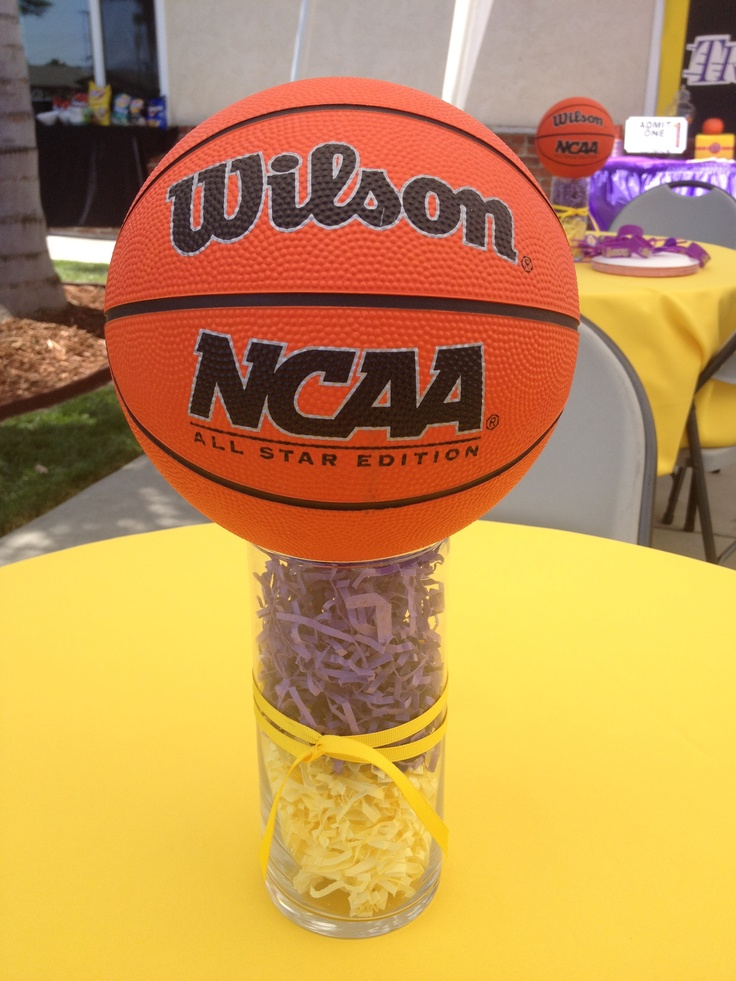 Centerpiece For My Lakers Theme Party Lakers Theme