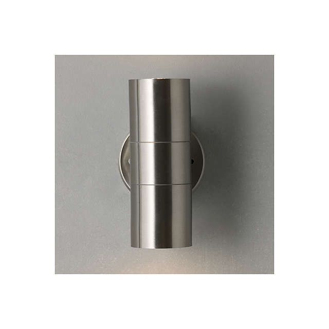 BuyJohn Lewis Sabrebeam Outdoor Double Wall Light with 2x 3.5W GU10 LED Bulbs, Steel Online at johnlewis.com
