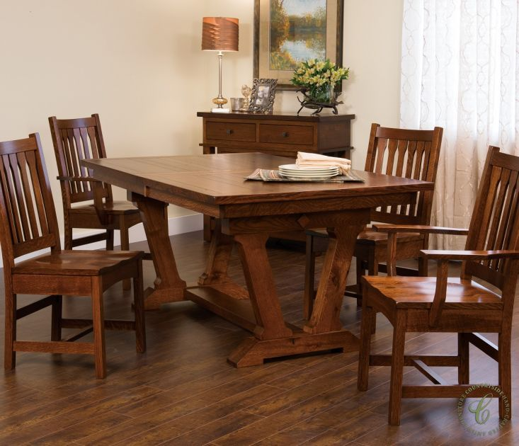 Our Southwest Inspired San Paulo Mission Dining Set Is Solid Wood, Amish Made  Furniture