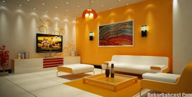 Sarı Renk Duvar Boyası ile Farklı Ortamlar