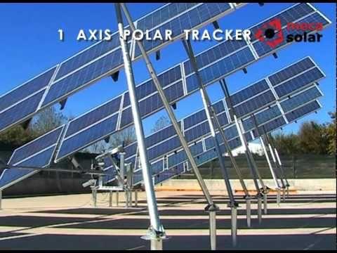 Instalación de paneles solares: Seguidor 1 eje (polar) #fotovoltaica #instlación #paneles #solar #instalación. Otro ejemplo diferente de estructuras con seguidor solar a un eje, en este caso el eje polar, con simulación de funcionamiento.