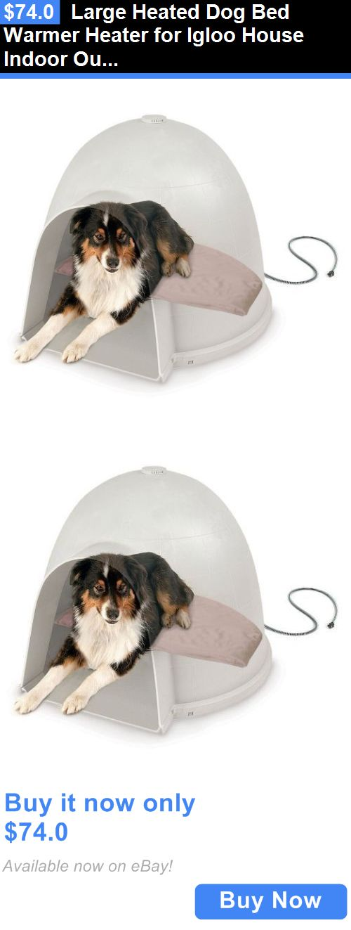 Animals Dog: Large Heated Dog Bed Warmer Heater For Igloo House Indoor Outdoor Pets New BUY IT NOW ONLY: $74.0