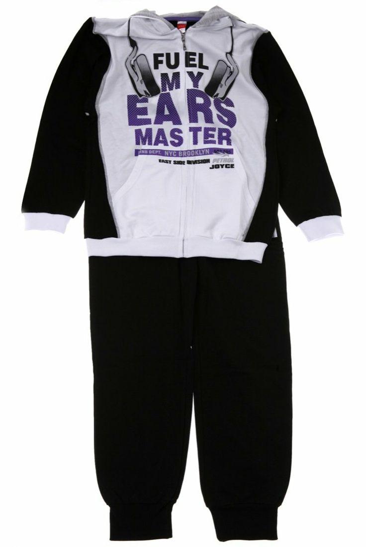 Παιδικά ρούχα AZshop.gr - Joyce παιδικό εποχιακό σετ φόρμα ζακέτα-παντελόνι «Fuel My Ears» €20,00