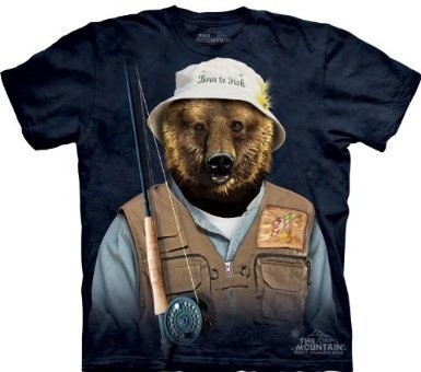 """Born to Fish T-Shirt from """"The Mountain"""". $21"""