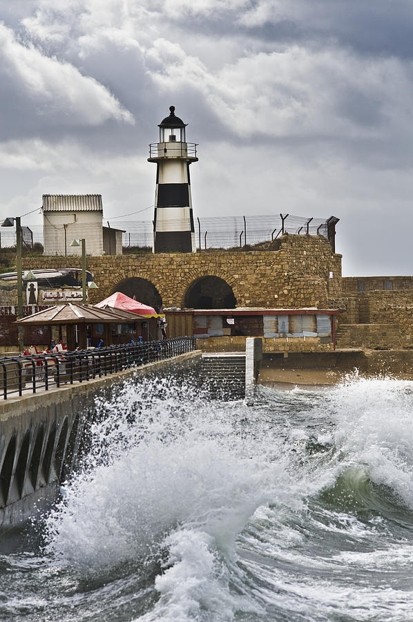 ✯ Fenced-in Lighthouse in Acre, Israel
