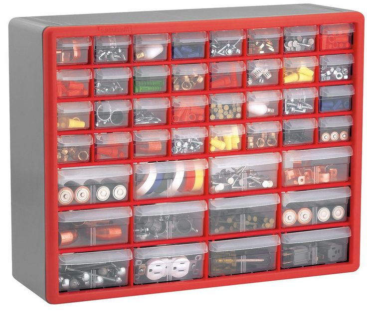 44 Drawer Storage Plastic Bin Crafts Beads Hardware Bolts