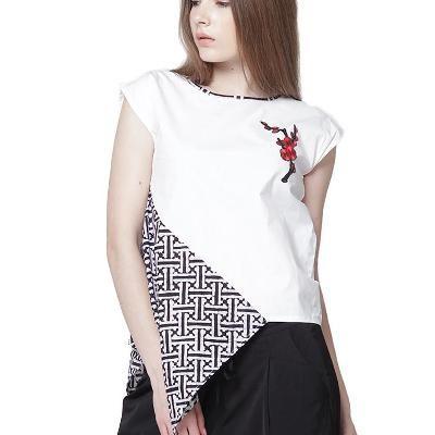 Black & White Batik Blouse