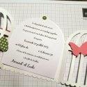 Faire-part de mariage, thème cage et papillons - Marie Claire Idées