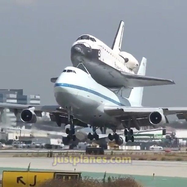 NASA Boeing 747 carrying Space Shuttle Endeavour lands in