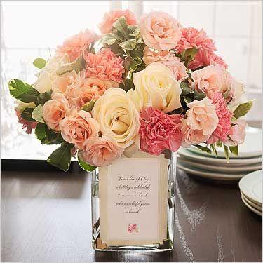 Beautiful coral flower arrangement