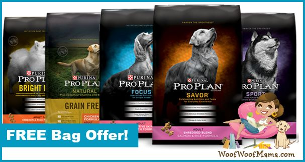 Snag a free bag of Purina Pro Plan dog food (up to $18.99 value)