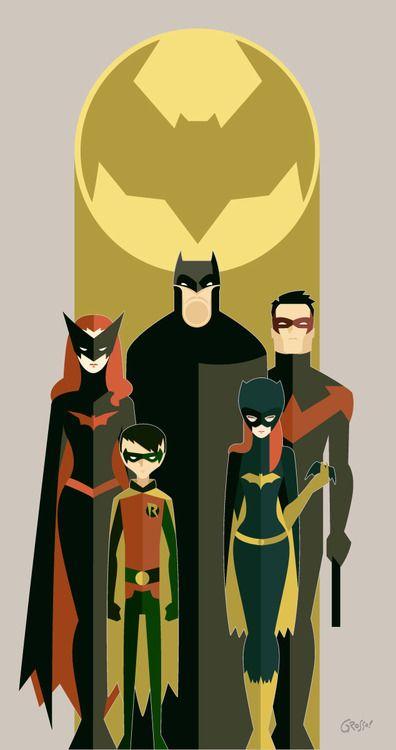 Bat Family by Diego Grosso