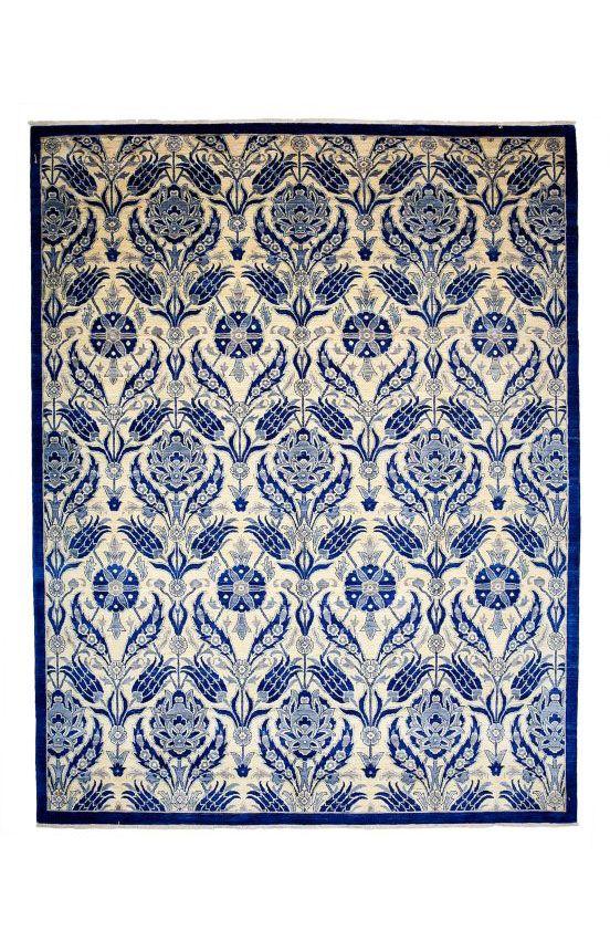 Darya Rugs Oushak Sona Blue Rug | Southwestern Rugs #RugsUSA