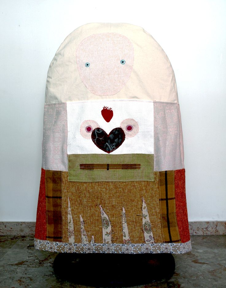 #toy, #costume, #mask, #art, #textiles, #fabric, #sewing, #fashion, project by Grigoria Vryttia (http://texturesinart.blogspot.com)