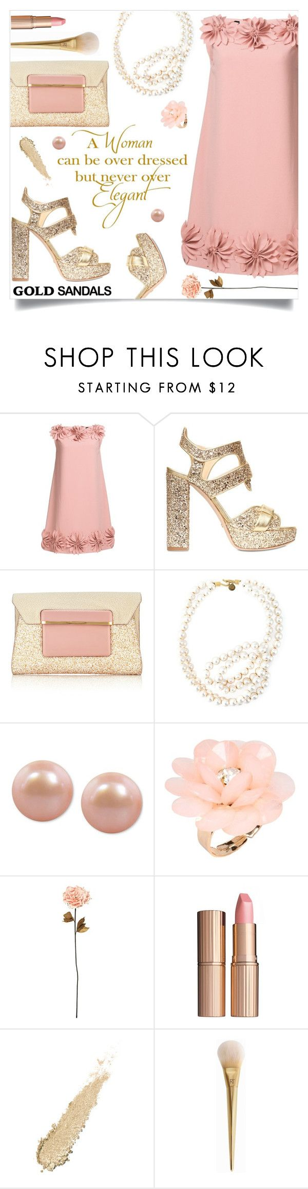 """Elegant"" by einn-enna ❤ liked on Polyvore featuring Chanel, Jerome C. Rousseau, Mary Katrantzou, STELLA McCARTNEY, Honora, Dettagli, Shabby Chic, Charlotte Tilbury and goldsandals"