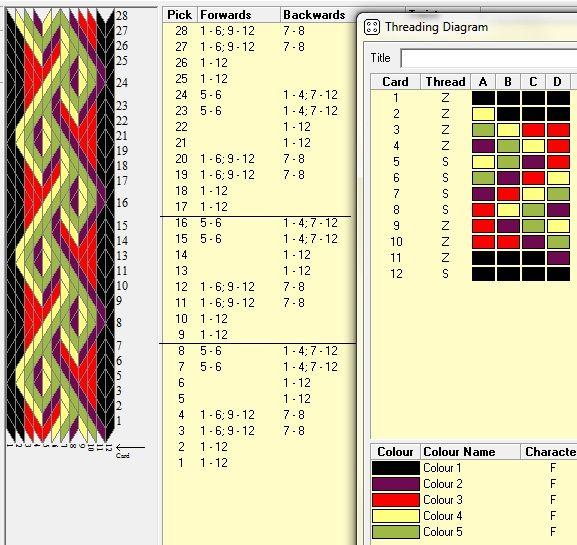 12 tarjetas, 5 colores, repite cada 8 movimientos // sed_215༺❁