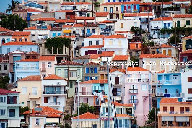 Lesvos: Plomari cityscape by Iain Masterton