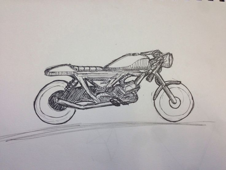 Latest motorbike drawing getting better at it