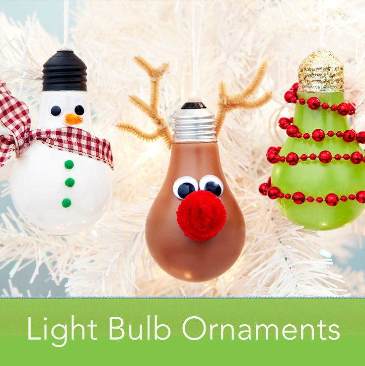 Transform light bulbs into adorable ornaments.