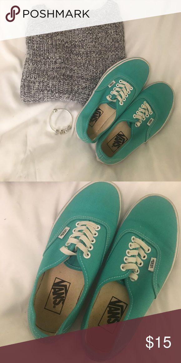 Teal Vans Springy Vans 💐 Shoes Sneakers