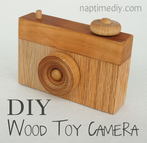 Pinterest Challenge: DIY Wood Toy Camera. Would be so great as a baby shower present.