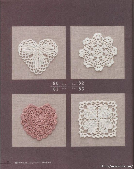 Tina's handicraft : 28 free patterns for harts motifs , granny square