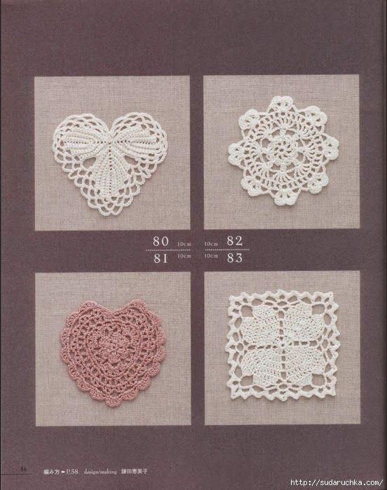 Tina's handicraft : 28 free patterns for harts motifs , granny square