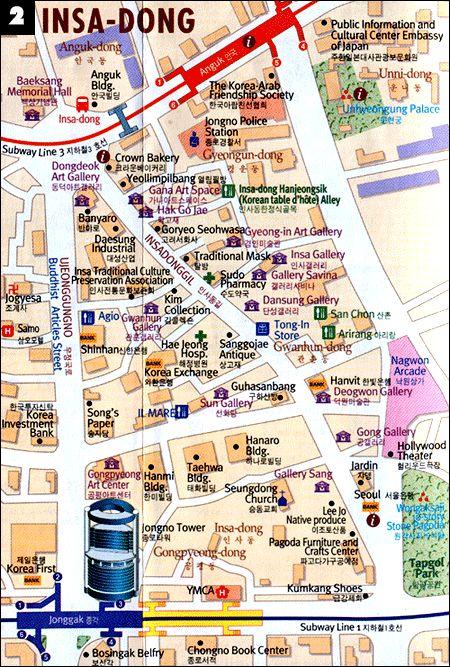 Map of Insadong